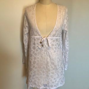 NWOT white cotton cover up